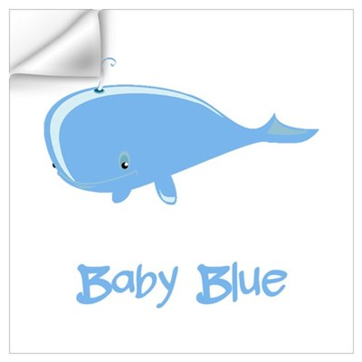 Baby Blue Whale Wall Decal