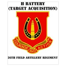 DUI - H Btry (Tgt Acq) - 26th FA Regt with Text Mi Poster