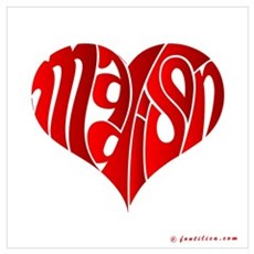 Madison (Red Heart) Poster