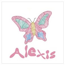 Pink Butterfly Alexis Framed Print