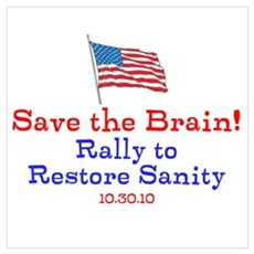 Save the Brain! Flag pole Poster