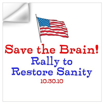 Save the Brain! Flag pole Wall Decal