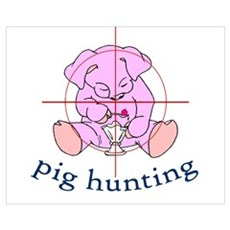 pig hunting Poster
