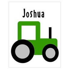 Joshua - Green Tractor Poster