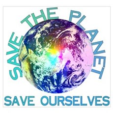 Save The Planet Canvas Art