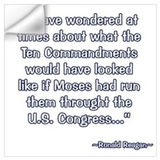 President Reagan on Moses VS. Congress Wall Decal