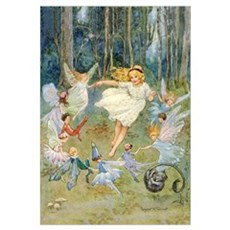 DANCING IN THE FAIRY RING Framed Print