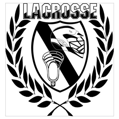 Lacrosse Victory Shield Poster