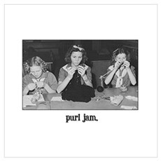 Knitting - Purl Jam Poster