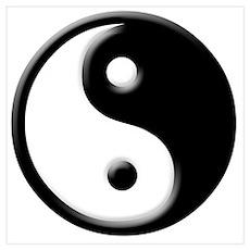 buddhist yin yang buddhism Poster
