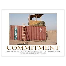 Commitment Motivational Poster