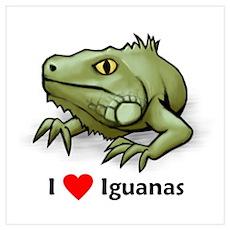 I Love Iguanas Poster