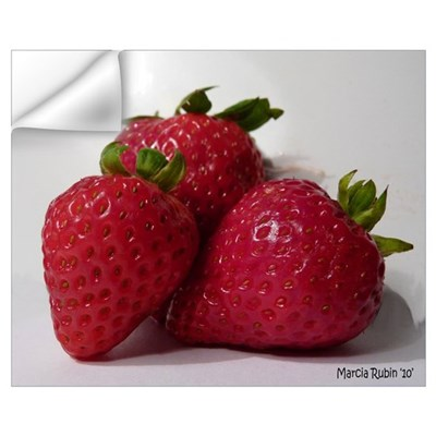 Strawberry Trio Wall Decal