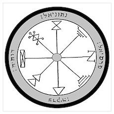 1st Pentacle of Jupiter Prosperity Poster