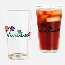 Vivienne Flowers Drinking Glass