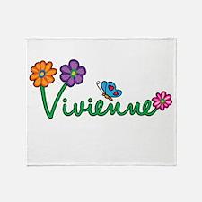 Vivienne Flowers Throw Blanket