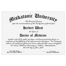 Miskatonic Diploma (Herbert West) Canvas Art