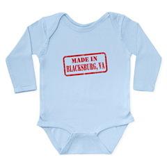 MADE IN BLACKSBURG, VA Long Sleeve Infant Bodysuit