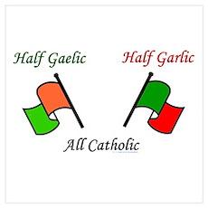 Half N' Half - Catholic Poster