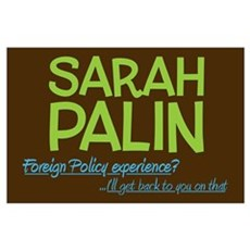 Inexperienced Palin (Large) Poster