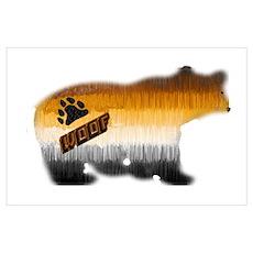 WOOF-FURRY BEAR PRIDE BEAR Poster