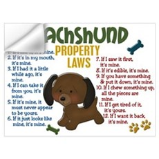 Dachshund Property Laws 4 Wall Decal