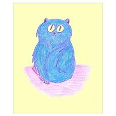 Blueberry Kitten on Lemon Poster