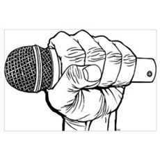 Microphone Fist Canvas Art