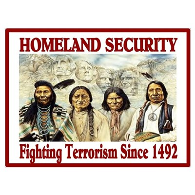 HOMELAND SECURITY Framed Print
