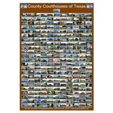 County Courthouses Of Texas Large Brown Framed Print