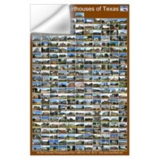 County Courthouses Of Texas Large Brown Wall Decal