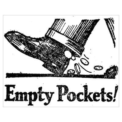 Retro Empty Pockets Poster