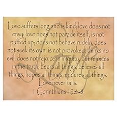 Framed Bible Verse, Love Poster