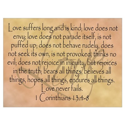 Framed Bible Verse, Love Canvas Art