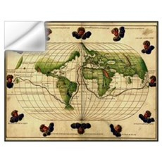 """1544 World Map"" Wall Decal"