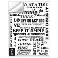 12 STEP SLOGANS Wall Decal