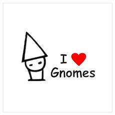 I Love Gnomes Poster