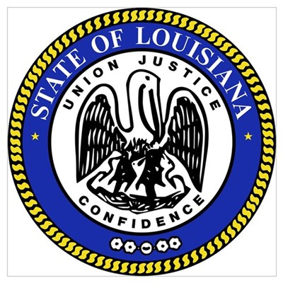 Louisiana State Seal Poster
