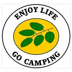 Enjoy Life Go Camping Framed Print