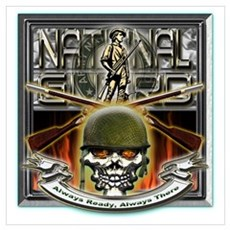 Army National Guard Skull and Poster