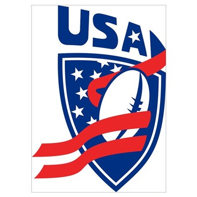 American USA Rugby Poster