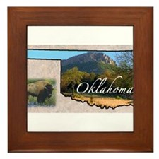 Cute Oklahoma Framed Tile