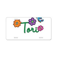 Tori Flowers Aluminum License Plate
