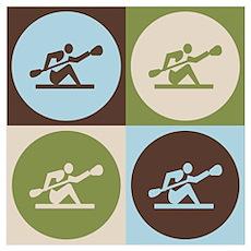 Kayaking Pop Art Poster