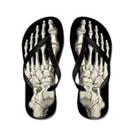 Cool Halloween Skeleton Flip Flops
