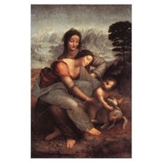 The Virgin and Child with St Poster
