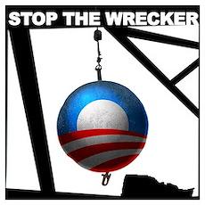 Obama Wrecking Ball Poster