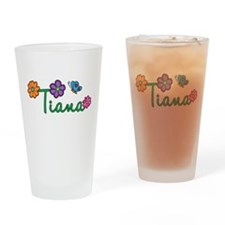 Tiana Flowers Drinking Glass