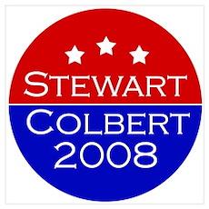 Stewart/Colbert 2008 Poster