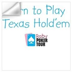 Born to Play Texas Hold'em Wall Decal